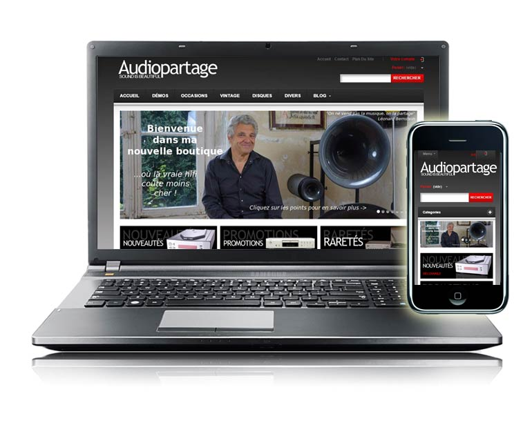 Site internet e-commerce par Dizziweb - Audiopartage