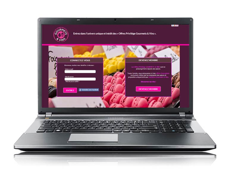 Site internet e-commerce ventes privées par Dizziweb - Gourmets & vins