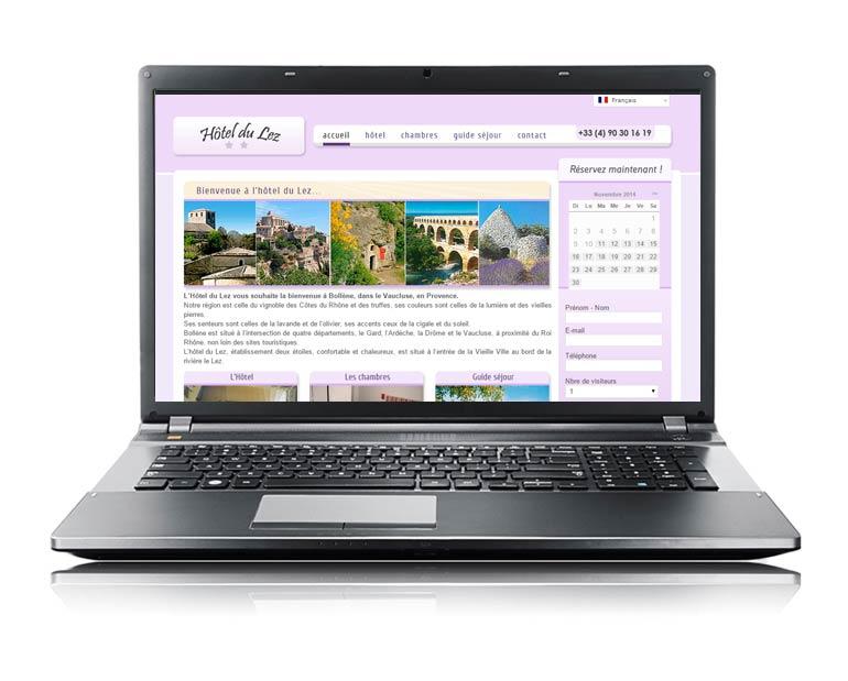 Site internet vitrine par Dizziweb - Hotel du Lez