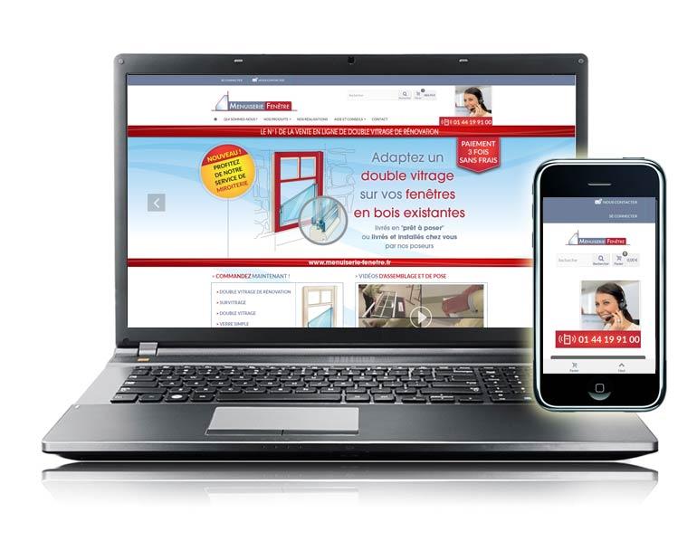 Site internet e-commerce par Dizziweb - Menuiserie Fenêtre