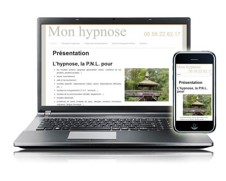 Site internet responsive par Dizziweb - Monhypnose