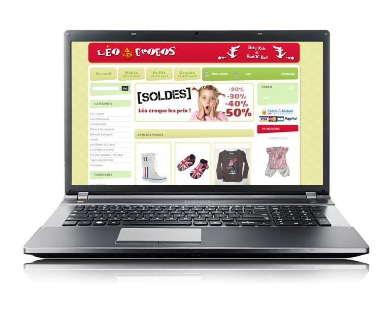 Site e-commerce léo & les crocos