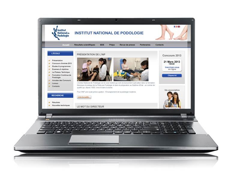 Site internet vitrine multilingue espace privé