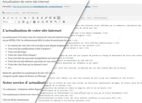 actualisation maintenance site internet lisieux