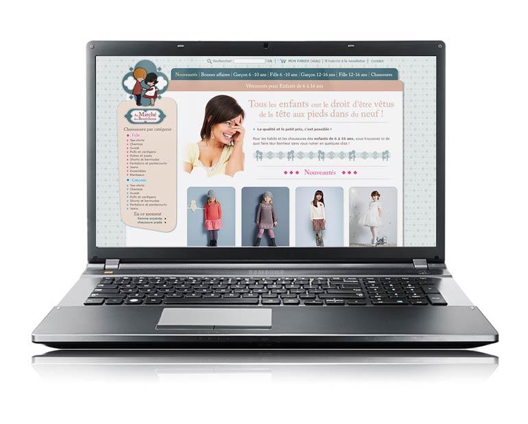 site e-commerce au marché des boutchous