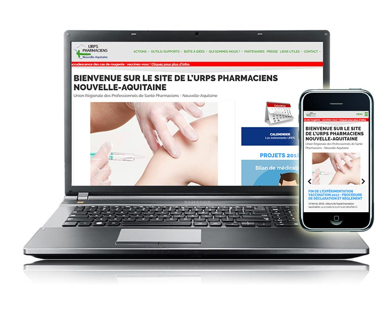Site internet responsive URPS Pharmaciens Nouvelle-Aquitaine