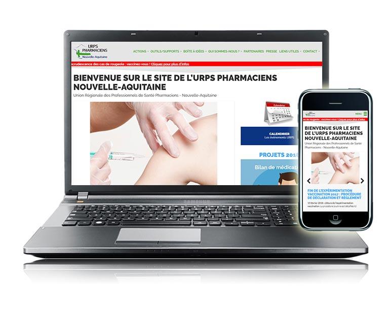 Site internet responsive URPS Pharmaciens Nouvelle-Aquitaine